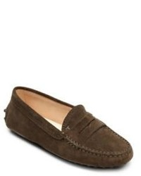 Tod's Kids Suede Driver Penny Loafers