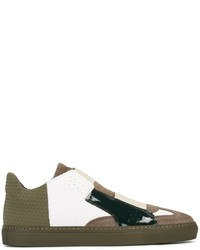 MM6 MAISON MARGIELA Panelled Low Top Sneakers