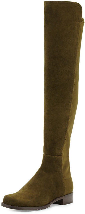 3e6cb1a3a50 ... Boots Stuart Weitzman 5050 Suede Over The Knee Boot Olive ...