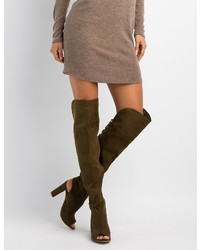 Charlotte Russe Bamboo Lattice Back Over The Knee Boots