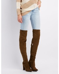 Charlotte Russe Bamboo Pointed Toe Over The Knee Boots