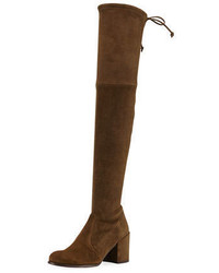 Stuart Weitzman Tieland Suede Over The Knee Boot