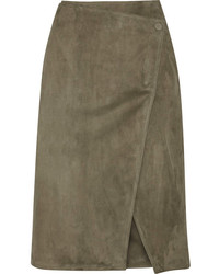 Jason Wu Suede Wrap Skirt