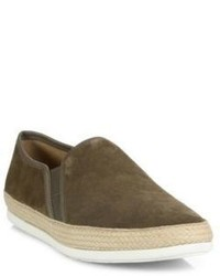 Vince Espadrille Suede Slip On Sneakers