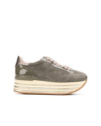 Hogan Platform Lace Up Sneakers