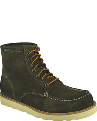Olive Suede Work Boots