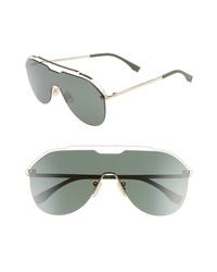 Fendi 137mm Shield Aviator Sunglasses