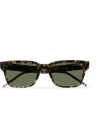 Thom Browne 418 Square Frame Tortoiseshell Acetate Sunglasses
