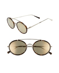 Max Mara 51mm Round Aviator Sunglasses