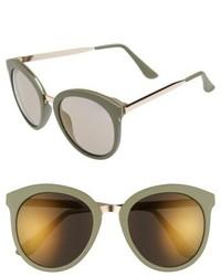 64mm Round Sunglasses Green