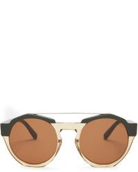Marni Bi Colour Round Frame Acetate Sunglasses