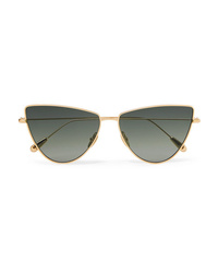 Kaleos Dolan Cat Eye Gold Tone Sunglasses
