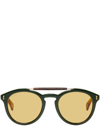 Gucci Green And Red Vintage Pilot Sunglasses