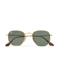 Ray-Ban Hexagon Frame Gold Tone Sunglasses