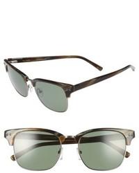 Ted Baker London 55mm Polarized Browline Sunglasses Black