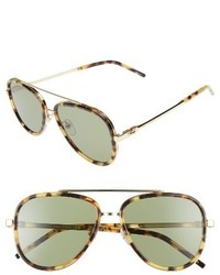 Marc Jacobs 56mm Aviator Sunglasses Spotted Havana