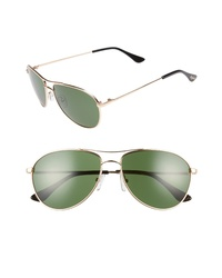 Brightside Orville 58mm Mirrored Aviator Sunglasses