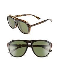 Gucci Pilot 56mm Flip Up Sunglasses