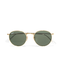 Ray-Ban Round Frame Gold Tone Sunglasses