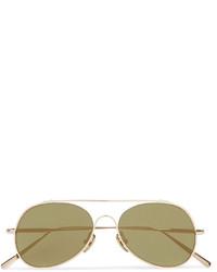 Acne Studios Small Spitfire Aviator Style Gold Tone Sunglasses
