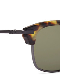 8405043ee3d ... Thom Browne Square Frame Tortoiseshell Acetate And Pewter Tone  Sunglasses