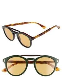 Gucci Vintage Pilot 50mm Sunglasses Black Grey