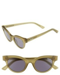 Quay Xkylie Starstruck 48mm Cat Eye Sunglasses Olive Smoke