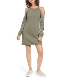 Cold shoulder sweatshirt dress medium 4913387
