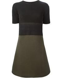 Neil Barrett Colour Block Sweater Dress