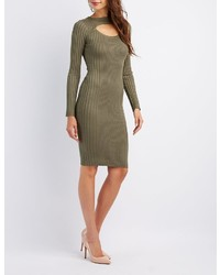 Charlotte Russe Ribbed Bodycon Midi Dress