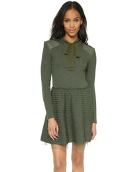 RED Valentino Ribbed Sweater Dress
