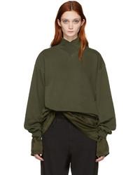 Haider Ackermann Green Mock Neck Pullover
