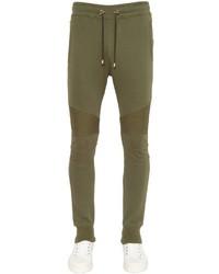 Balmain biker cotton jersey sweatpants medium 957963