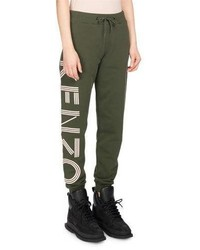 Classic logo side cotton jogger pants olive medium 3719648
