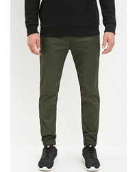 Forever 21 Coated Chino Joggers