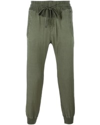 Haider Ackermann Cropped Tapered Track Pants