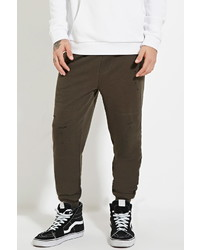Forever 21 Distressed Drawstring Joggers