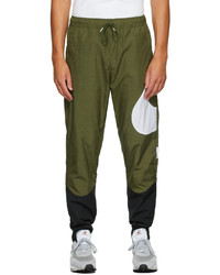 Nike Green Black Swoosh Sportswear Lounge Pants