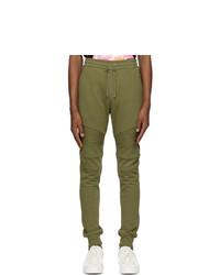 Balmain Green Flocked Logo Lounge Pants