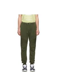 Balmain Green Ribbed Lounge Pants