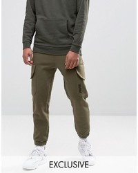 Puma Skinny Cargo Joggers In Green To Asos