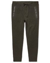 Polo Ralph Lauren Tapered Shell Trimmed Birdseye Cotton Blend Sweatpants