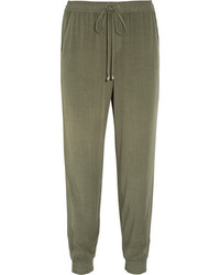 Splendid Washed Poplin Track Pants