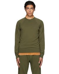 Tom Ford Green Gart Dyed Regular Fit Sweatshirt