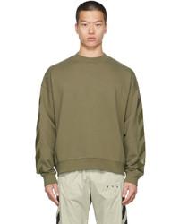 Off-White Green Rubber Arrow Skate Sweatshirt