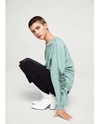 Mango Ruffled Sleeves Sweatshirt
