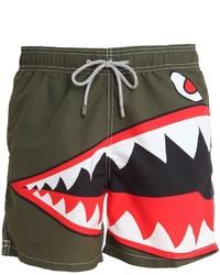MC2 Saint Barth Barbados Shark Micro Fiber Swim Shorts