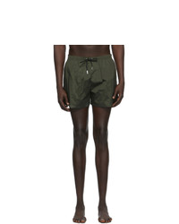 DSQUARED2 Green Back Logo Swim Shorts