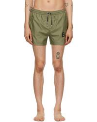 Balmain Green Logo Swim Shorts