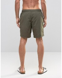 5cedaa9b7f ... Asos Swim Shorts With Cargo Pocket And Drawcord Detail In Khaki Mid  Length ...